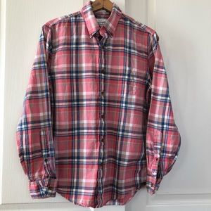 Abercrombie & Fitch plaid long sleeve shirt small
